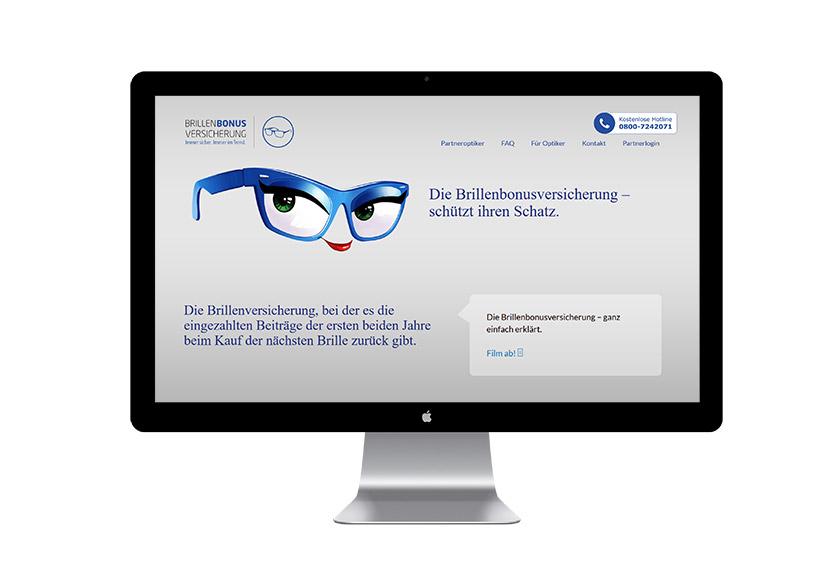 Brillenversicherung Webseite