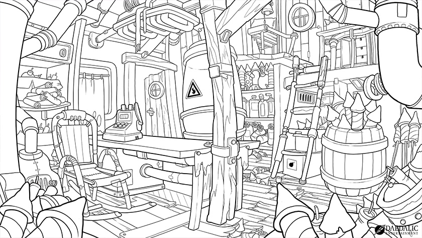Deponia Lineart