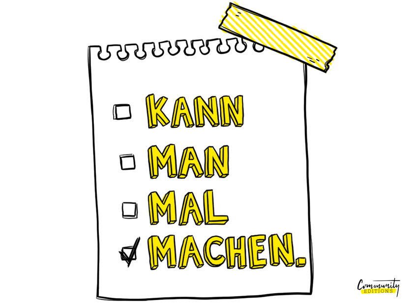 Kann man mal machen Illustration