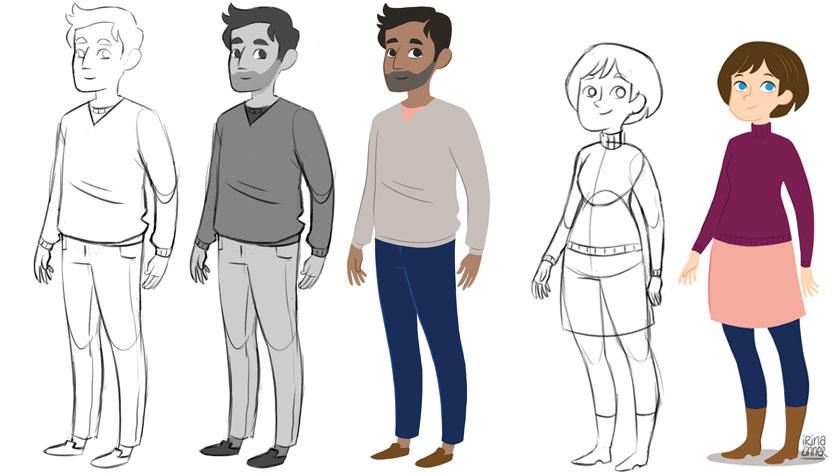 Erklärfilm Characterdesign
